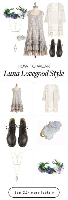 """Luna Lovegood"" by ihugzombiez on Polyvore featuring Charlotte Russe, Ryu, Rock 'N Rose, Violeta by Mango and Helix & Felix"