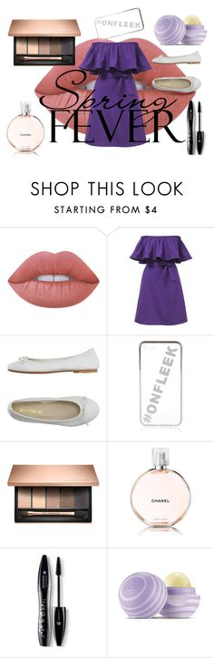 """""""#onfleak"""" by ashfur123 on Polyvore featuring Lime Crime, DIENNEG, River Island, Chanel, Lancôme and Eos"""