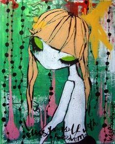 "Painting ""Yoshi"" by Lisa Rinnevuo at art gallery Konst och Folk in Stockholm Famous Art, Art Gallery, Artsy, Stockholm, Yoshi, Inspiration, Walls, Paintings, Photos"