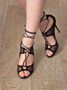 DUCCIO VENTURI   SS2013     Mesh-detail lace-up shoe