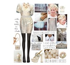 """""""Kirsten in D&G dress"""" by misslenny ❤ liked on Polyvore featuring Wolford, Chloé, Made of Me, Winward, Lanvin and Coast"""