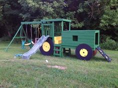 Tractor playset...Grayson would love this.