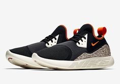 One of the more enduring design motifs from the Nike archive is the brand's iconic Safari print, which is set to transform the Nike LunarCharge as part of the original colorway from the 1987 Safari release. The shoe's textile and neoprene upper is rendered in black, accented with contrasting hits of orange on the collar, pull loop and miniature Swoosh branding. The Air Max 90-inspired eyestay is finished in white, while the mudguard gets the eye-catching Safari textu...