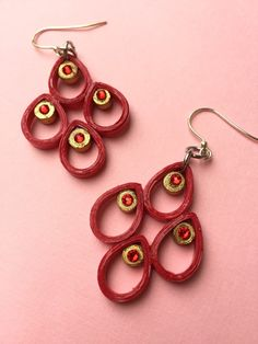 Hey, I found this really awesome Etsy listing at https://www.etsy.com/listing/217867956/paper-quilled-earrings-swarovski