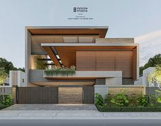2 Storey House Design, Bungalow House Design, House Front Design, Small House Design, Modern Exterior House Designs, Modern House Facades, Modern Houses, Modern Contemporary Homes, Contemporary House Designs