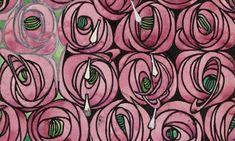 Charles Rennie Mackintosh's rose and teardrop textile design, 1915-28.