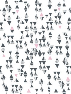 Triangles (Gray/Pink) Tile