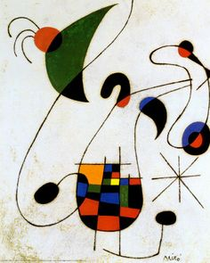 Joan Miro Vintage Postcard The Melancholy Singer 1955 Paris Editions Hazan 1988                                                                                                                                                                                 More