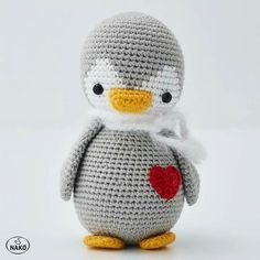 Amigurumi Penguin – Knitting Life – Join the world of pin 40 Cute Animal and Cartoon Character Amigurumi Crochet Patterns For Your Baby Part amigurumi crochet patterns; Tomte CAL van CuteDutch Made by mie - Salvabrani - Salvabrani This crochet dragon Crochet Penguin, Crochet Animal Amigurumi, Knitted Animals, Crochet Bunny, Cute Crochet, Amigurumi Doll, Beautiful Crochet, Knit Crochet, Crochet Dolls Free Patterns