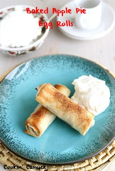 Baked Apple Pie Egg Rolls Recipe from @Cookin' Canuck Dara Michalski