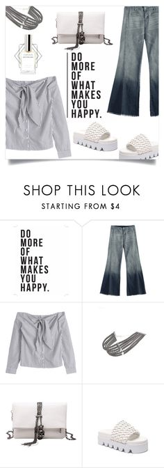 """Trends: Flared Denim"" by mahafromkailash ❤ liked on Polyvore featuring Native State"