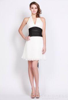 Luxury Sheath / Column V-neck Short / Mini Ruching Prom Dress 2014 - Storedress.com on Wanelo