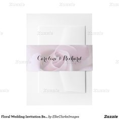 Floral Wedding Invitation Belly Bands Invitation Belly Band