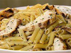 Receta para preparar pasta al limón con pollo / paste penne