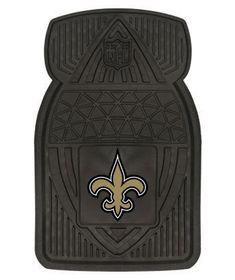Set of 2 NFL Saints Vinyl Car Mats; $26.95