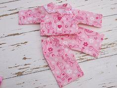 Waldorf Doll ClothesTwo piece  Pink Animals by ToysWorkshopWE, $15.90