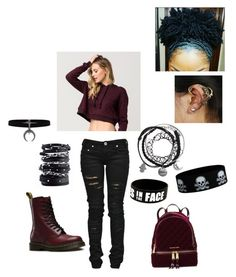 """""""Untitled #125"""" by untoldseecrets ❤ liked on Polyvore featuring Full Tilt, Denim of Virtue, Dr. Martens, Luis Morais and MICHAEL Michael Kors"""