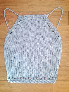 Knit Festival Top Pattern - Free knitting pattern by Knitting Patterns Free, Free Knitting, Free Pattern, Knitting Kits, Shawl Patterns, Festival Tops, Bralette Pattern, Crop Top Pattern, Summer Knitting
