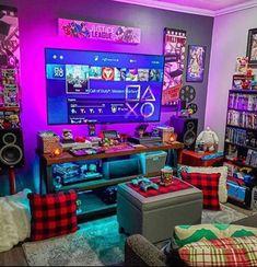 Small Game Rooms, Batman Games, The New Batman, Mundo Dos Games, Gaming Room Setup, Game Room Design, Gamer Room, Up Game, Modern Warfare