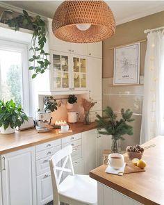 Boho Kitchen, Farmhouse Kitchen Decor, Home Decor Kitchen, Home Decor Bedroom, New Kitchen, Home Kitchens, Home Interior, Kitchen Interior, Beige Living Rooms