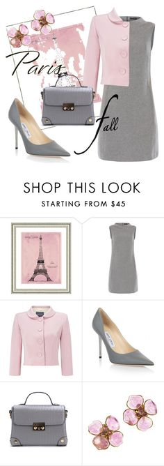 """""""Paris in fall"""" by brujitaguapa ❤ liked on Polyvore featuring Vintage Print Gallery, Peserico, Phase Eight, Jimmy Choo and Chanel"""