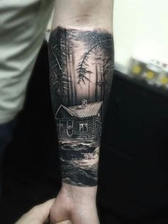 66 ideas for black tree tattoo forests woods 13 Tattoos, Black Tattoos, Body Art Tattoos, Tattoos For Guys, Tattoos For Women, Cool Tattoos, Family Sleeve Tattoo, Wolf Tattoo Sleeve, Nature Tattoo Sleeve