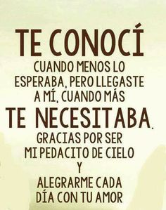 Discover recipes, home ideas, style inspiration and other ideas to try. Spanish Quotes Love, Love Quotes For Him, Cute Quotes, Funny Quotes, Frases Love, Amor Quotes, Qoutes, Love Messages, Relationship Quotes