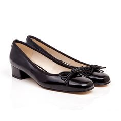 Coco black faux leather mid heel vegan shoes #vegan #ethical #fashion www.beyondskin.co.uk @beyondskin