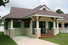 THOUGHTSKOTO Bungalow, Ideal Home, Beautiful Homes, House Plans, Pergola, Stairs, Houses, Outdoor Structures, House Design