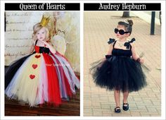 Audrey Hepburn and the Queen of Hearts Halloween Costumes plus lots more!  Great inspiration for little girls Halloween costumes