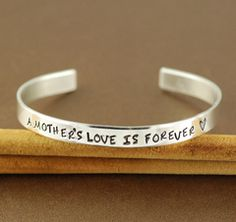 A Mother's Love is Forever Cuff Bracelet