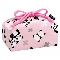 Bento Lunch Box Cloth Bag Panda Pink