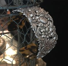 Bouquet, bracelet, assemblage, stamping, rhinestones, altered, upcycled, vintage, cuff by WilliamDaltonDesign on Etsy https://www.etsy.com/listing/502025277/bouquet-bracelet-assemblage-stamping