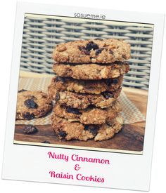 My SoSueMe recipe is live! This week, it's a great recipe for Nutty Cinnamon and Raisin Cookies. They're free from refined sugar and gluten but taste great… The perfect treat to have with a cup of tea! Check out the recipe here 🙂 Raisin Cookies, Great Recipes, Sugar Free, Dairy Free, Cinnamon, Healthy Eating, Tasty, Nutrition, Treats