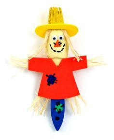 Nicole™ Crafts Scarecrow Paintbrush #kids #crafts