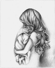 baby drawing Mother and Child Drawing Tattoo Kind, Tattoo For Son, Tattoos For Kids, Tattoos For Daughters, Logan Tattoo, True Love Tattoo, Mother And Daughter Drawing, Mother Art, Mother Mother