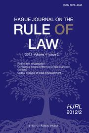 Hague Journal on the Rule of Law - http://journals.cambridge.org/ROL