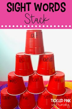 FREE Sight Word Games and Activities 10 Ways to Practice Sight Words - students have to read the word as they build their sight word Ways to Practice Sight Words - students have to read the word as they build their sight word tower Kindergarten Sight Word Games, Preschool Sight Words, Learning Sight Words, Sight Words List, First Grade Sight Words, Literacy Games, Sight Word Practice, Kindergarten Learning, Sight Word Activities