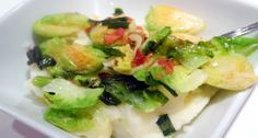 Brussels Sprouts-Pancetta Colcannon (Irish Recipe)