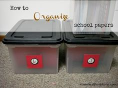 How To Organize School Papers... I was just thinking about this today!