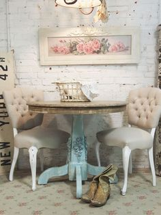 Painted Cottage Chic Shabby Farmhouse French Table TBL11