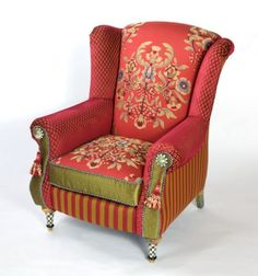Highland Club Chair By MacKenzie Childs.......now I Know What To Do With My  Scrap Fabrics! | Chair | Pinterest | The Shape, Ottomans And Scrap Fabric