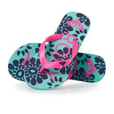 Roxy Tahiti Girl Flip Flops - Pink/Pink | Free UK Delivery