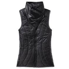 Athleta Vail Vest - Black/black heather in  from Athleta on shop.CatalogSpree.com, your personal digital mall.