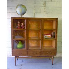 image of midcentury modern china cabinet