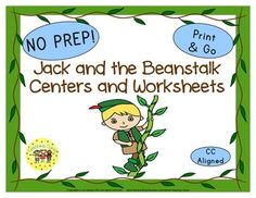 38 Jack and the Beanstalk Print and Go printables of story elements, sequencing, comprehension, retelling, graphic organizers, vocabulary, and FUN!