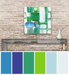 Pallet Designs A modern colour palette created from the original art by Jane Monteith
