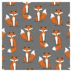 Tissu enduit coton Fabulous Foxes x 10cm