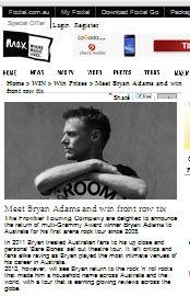 Win A Front Row Tickets To Meet Bryan Adams Bryan Adams, Win Tickets, Rock Concert, Front Row, Have Fun, Meet