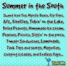 Summer in the south!